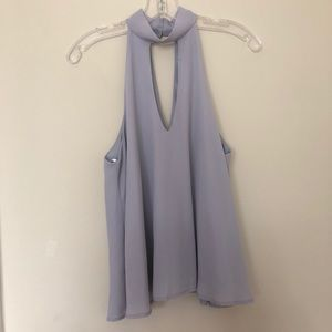 periwinkle blouse from Lulus
